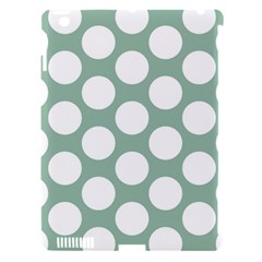 Jade Green Polkadot Apple iPad 3/4 Hardshell Case (Compatible with Smart Cover)