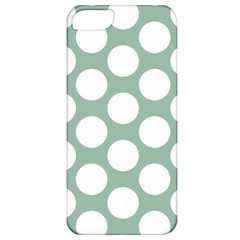 Jade Green Polkadot Apple Iphone 5 Classic Hardshell Case