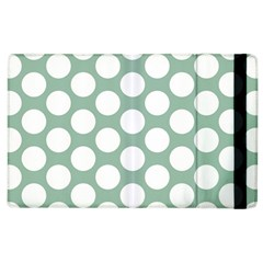 Jade Green Polkadot Apple iPad 3/4 Flip Case