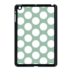 Jade Green Polkadot Apple Ipad Mini Case (black)