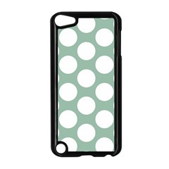 Jade Green Polkadot Apple iPod Touch 5 Case (Black)