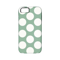 Jade Green Polkadot Apple Iphone 5 Classic Hardshell Case (pc+silicone)