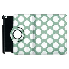 Jade Green Polkadot Apple iPad 2 Flip 360 Case