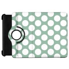 Jade Green Polkadot Kindle Fire HD 7  (1st Gen) Flip 360 Case