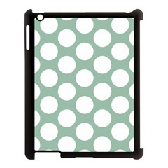Jade Green Polkadot Apple Ipad 3/4 Case (black)