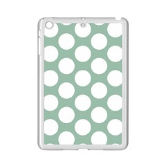 Jade Green Polkadot Apple iPad Mini 2 Case (White)