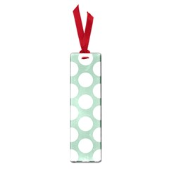 Jade Green Polkadot Small Bookmark