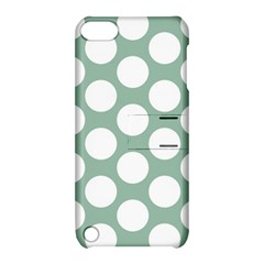 Jade Green Polkadot Apple iPod Touch 5 Hardshell Case with Stand