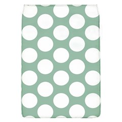 Jade Green Polkadot Removable Flap Cover (Large)