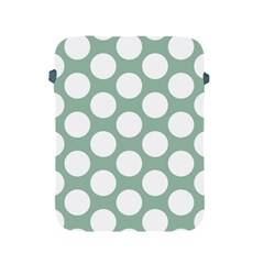 Jade Green Polkadot Apple iPad Protective Sleeve