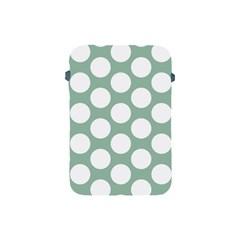 Jade Green Polkadot Apple Ipad Mini Protective Sleeve