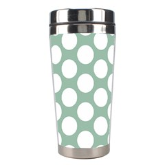 Jade Green Polkadot Stainless Steel Travel Tumbler
