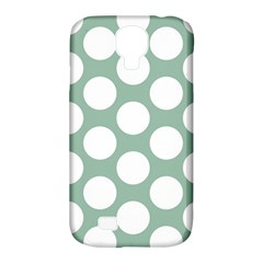 Jade Green Polkadot Samsung Galaxy S4 Classic Hardshell Case (PC+Silicone)