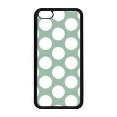 Jade Green Polkadot Apple iPhone 5C Seamless Case (Black)