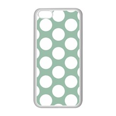 Jade Green Polkadot Apple iPhone 5C Seamless Case (White)