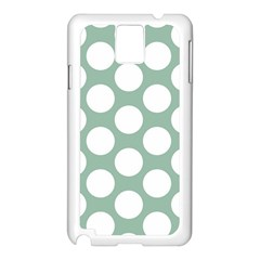 Jade Green Polkadot Samsung Galaxy Note 3 N9005 Case (white)