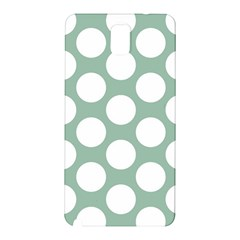 Jade Green Polkadot Samsung Galaxy Note 3 N9005 Hardshell Back Case