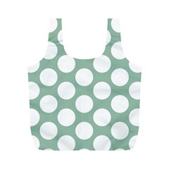Jade Green Polkadot Reusable Bag (M)