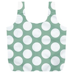 Jade Green Polkadot Reusable Bag (XL)