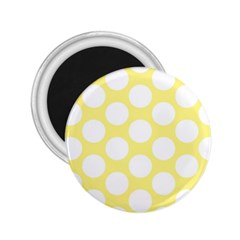 Yellow Polkadot 2 25  Button Magnet