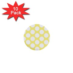 Yellow Polkadot 1  Mini Button (10 Pack)