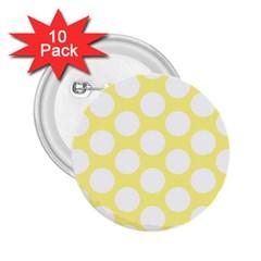 Yellow Polkadot 2.25  Button (10 pack)