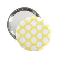Yellow Polkadot Handbag Mirror (2.25 )