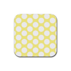 Yellow Polkadot Drink Coasters 4 Pack (Square)
