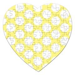 Yellow Polkadot Jigsaw Puzzle (heart)