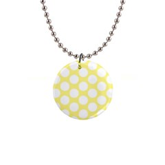 Yellow Polkadot Button Necklace