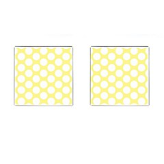Yellow Polkadot Cufflinks (Square)