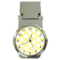 Yellow Polkadot Money Clip with Watch