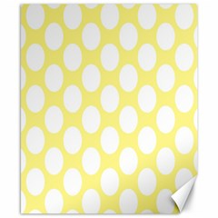 Yellow Polkadot Canvas 8  X 10  (unframed)