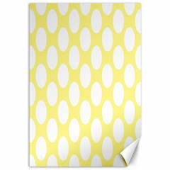 Yellow Polkadot Canvas 12  x 18  (Unframed)