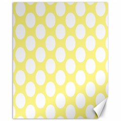 Yellow Polkadot Canvas 16  x 20  (Unframed)