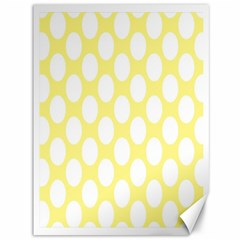 Yellow Polkadot Canvas 36  x 48  (Unframed)