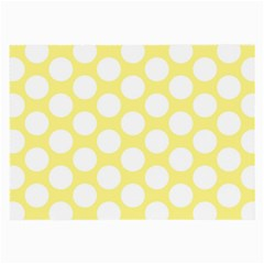 Yellow Polkadot Glasses Cloth (Large, Two Sided)