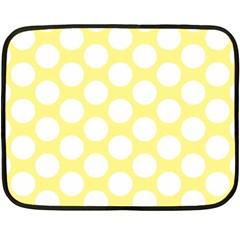 Yellow Polkadot Mini Fleece Blanket (two Sided)