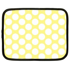 Yellow Polkadot Netbook Sleeve (xl)