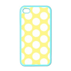 Yellow Polkadot Apple Iphone 4 Case (color)