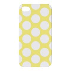 Yellow Polkadot Apple iPhone 4/4S Hardshell Case