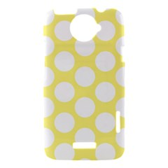 Yellow Polkadot HTC One X Hardshell Case