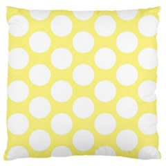 Yellow Polkadot Large Cushion Case (two Sided)