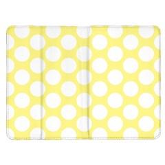 Yellow Polkadot Kindle Fire Flip Case