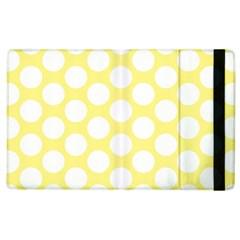 Yellow Polkadot Apple Ipad 3/4 Flip Case