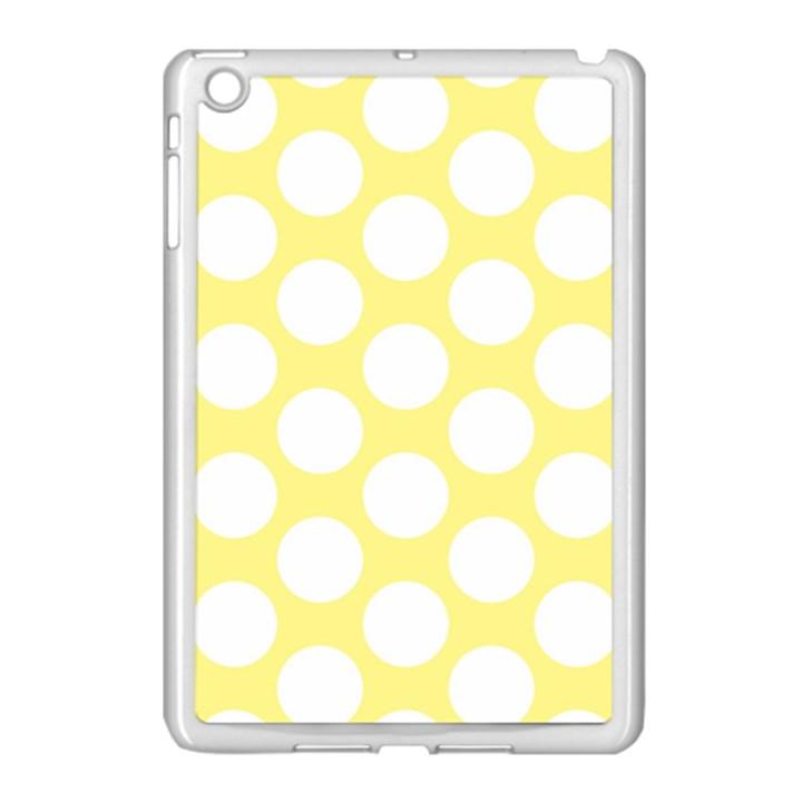 Yellow Polkadot Apple iPad Mini Case (White)