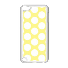 Yellow Polkadot Apple iPod Touch 5 Case (White)