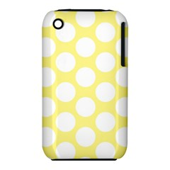 Yellow Polkadot Apple iPhone 3G/3GS Hardshell Case (PC+Silicone)
