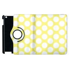 Yellow Polkadot Apple Ipad 3/4 Flip 360 Case