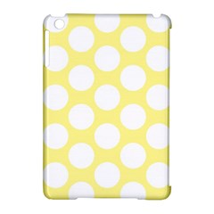 Yellow Polkadot Apple Ipad Mini Hardshell Case (compatible With Smart Cover)